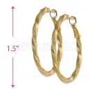 Orotex Gold Layered Hoop Earrings