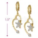 Orotex Gold Layered CZ Dangling Star Earrings