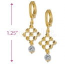 Orotex Gold Layered CZ Dangling Earrings