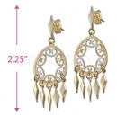 Orotex Gold Layered Two-tone Chandelier Earrings