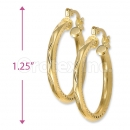 Orotex Gold Layered Diamond Cut Fancy Hoop Earrings