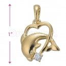 Orotex Gold Layered Two Dolphin Charm