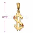 Orotex Gold Layered Dollar Charm