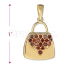 Orotex Gold Layered Bag Charm