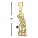 Orotex Gold Layered San Cristopher Charm