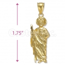 Orotex Gold layered St. Jude Charm