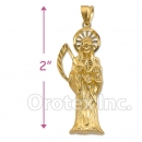 Orotex Gold Layered Santa Muerte Charm