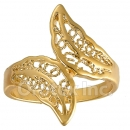 Orotex Gold Layered Ladies Filligree Ring
