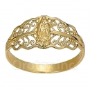 Orotex Gold Layered Ladies Guadalupe Ring