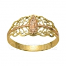 Orotex Gold Layered two tone Guadalupe Ring