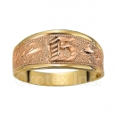 Orotex Gold Layered two tone 15 años Ring