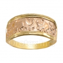 Orotex Gold Layered two tone Lucky Ring