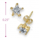 Orotex Gold Layered Star Stud CZ Earring