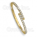 GLBN 001 Gold Layered CZ Cuff Bangle