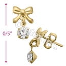 GLES 001 Gold Layered CZ Stud Earrings
