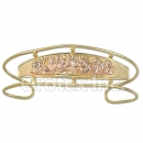 Orotex Gold Layered Tri-color Last Supper Cuff Bangle