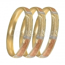 Oro Tex 12mm Gold Plated Tri-color Indian Bangle