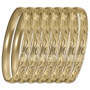 GLG1-52CG   6mm Gold Plated Laser Cut  Semanario Bangle