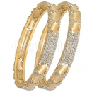 GLG152 Gold Plated CZ Bangle