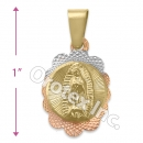 GLP 005 Gold Layered Tri-Color Charm