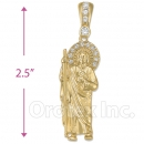 Oro Tex Gold Layered San Judas Charm
