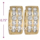H62R16  Gold Layered  CZ Huggies Earring