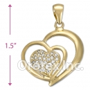 IPCZ-1052 Gold Layered CZ Charm