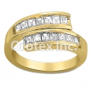 JAB007 Gold Layered CZ Ring