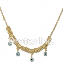 N011 Gold Layered Blue Eye Necklace