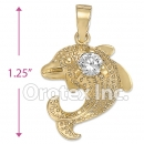 P004 Gold Layered CZ Charm