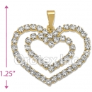 P006 Gold Layered CZ Charm