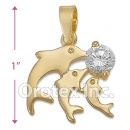 P007 Gold Layered CZ Charm