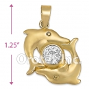 P009 Gold Layered CZ Charm