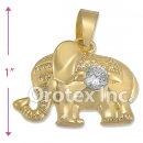 P010 Gold Layered CZ Charm