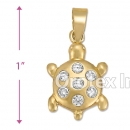 P011 Gold Layered CZ Charm