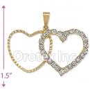 P012 Gold Layered CZ Charm