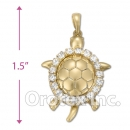 P029 Gold Layered CZ Charm