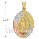 P030 Gold Layered Tri-color Charm