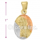 P198 Gold Layered Tri-Color Pendant
