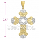 P201 Gold Layered Two-Tone Pendant