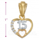 P78-26 Gold Layered CZ Charm