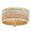 R006 Gold Layered Tri Color Women's Ring