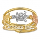 R008 Gold Layered Tri Color Women's Ring