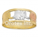 R011 Gold Layered Tri Color Women's Ring