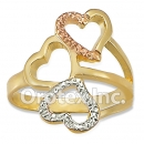 R020 Gold Layered Tri Color Women's Ring