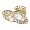 R061C Gold Layered CZ Ring
