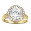 R065 Gold Layered CZ Ring