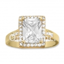 R067 Gold Layered CZ Ring