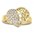 R068 Gold Layered CZ Ring