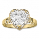R070 Gold Layered CZ Ring